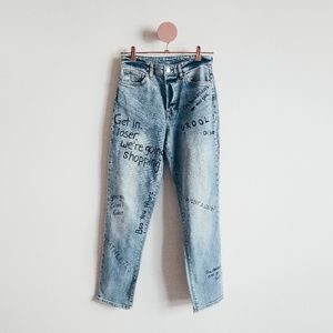 One Of A Kind Mean Girls Blue Denim Jeans Size 4
